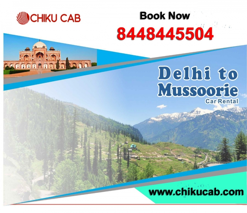 dehli to mussoorie  car rental