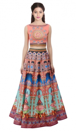 Exclusive collection of crop top lehengas at Mirraw | Visit a website