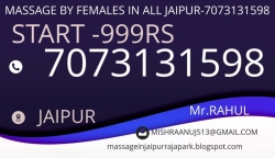 FEMALE TO MALE BODY  MASSAGE PARLOUR IN ALL JAIPUR-7073131598(999RS)