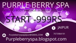 FEMALE TO MALE BODY MASSAGE SERVICES  IN ALL JAIPUR (PURPLE BERRY SPA-999RS)-7073984191