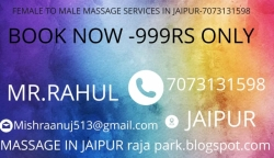 FEMALE TO MALE MASSAGE SERVICES  IN JAIPUR-7073131598(999RS)