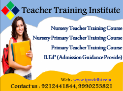 Correspondence primary Teacher training course in Delhi